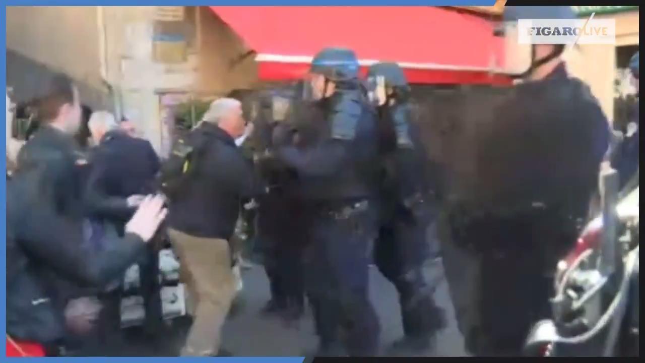 «Gilets jaunes» Acte XIX : des manifestants évacués par les forces de l'ordre à Nice